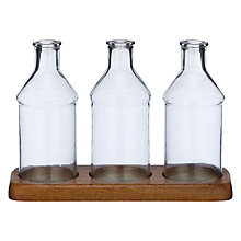 Buy John Lewis Fusion Three Bottle Hurricane Candle Holder Online at johnlewis.com
