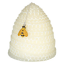 Buy John Lewis Relaxed Country Beehive Shaped Candle, Ivory Online at johnlewis.com
