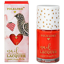 Buy Folklore Bird Nail Polish, Strawberry Online at johnlewis.com