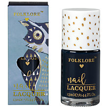 Buy Folklore Owl Nail Polish, Blueberry Online at johnlewis.com