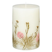 Buy John Lewis Relaxed Country Embedded Floral Pillar Candle Online at johnlewis.com