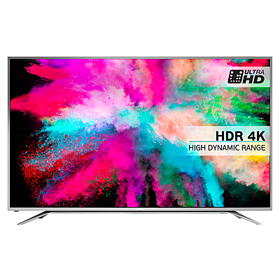 "Hisense 65M5500 LED HDR 4K Ultra HD Smart TV, 65"" With Freeview HD & Anyview Cast, Silver"