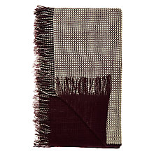 Buy John Lewis Relaxed Country Knitted Throw, Damson Online at johnlewis.com