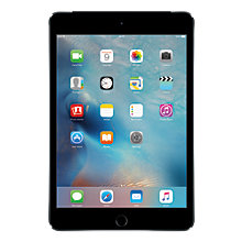 "Buy Apple iPad Mini 4, Apple A8, iOS 10, 7.9"", Wi-Fi & Cellular, 32GB Online at johnlewis.com"