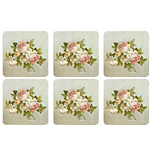 Buy Pimpernel Antique Rose Coasters, Set of 6 Online at johnlewis.com