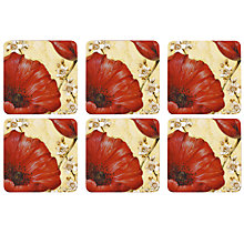 Buy Pimpernel Poppies Coasters, Set of 6 Online at johnlewis.com