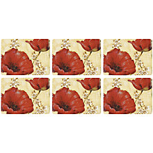 Buy Pimpernel Poppies Placemats, Set of 6 Online at johnlewis.com