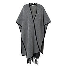 Buy L.K. Bennett Maura Herringbone Poncho, Black/White Online at johnlewis.com