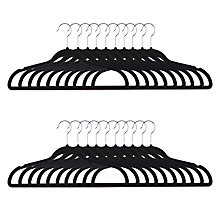 Buy John Lewis Black Velvet Hangers, Pack of 20 Online at johnlewis.com