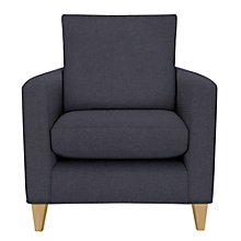 Buy John Lewis Bailey Fixed Cover Armchair, Light Leg, Bevan Navy Online at johnlewis.com