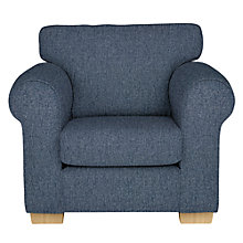 Buy John Lewis Milford Armchair, Light Leg, Catrin Navy Online at johnlewis.com