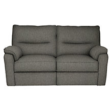 Buy John Lewis Carlisle Small 2 Seater Power Recliner Sofa, Light Leg, Catrin Charcoal Online at johnlewis.com