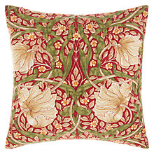 Buy Morris & Co Pimpernel Cushion, Red Online at johnlewis.com