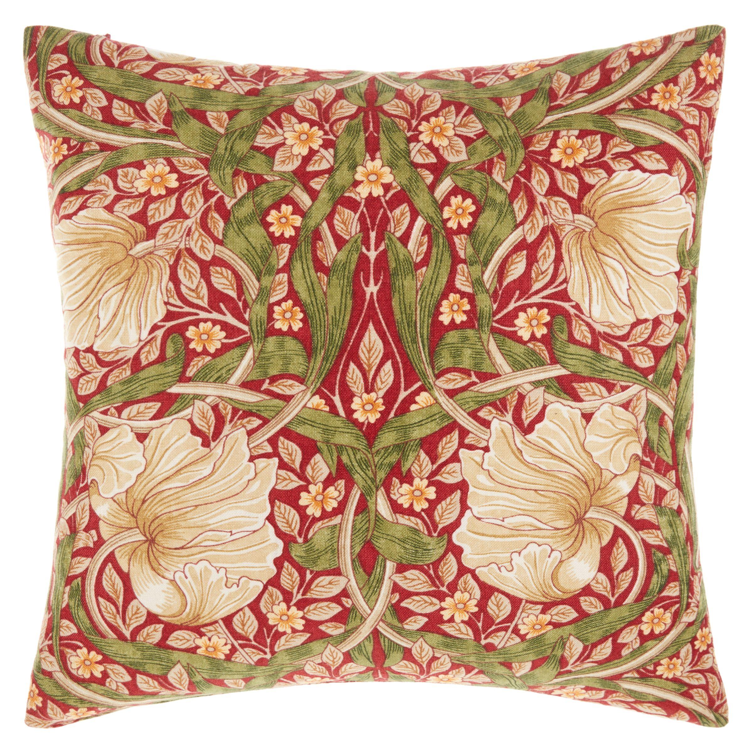 Morris & Co Morris & Co Pimpernel Cushion, Red