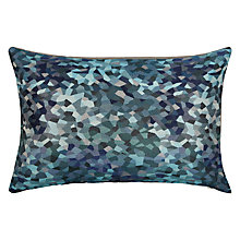Buy John Lewis Fragments Cushion, Blue Online at johnlewis.com