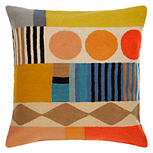 Buy John Lewis Geo Club Cushion, Multi Online at johnlewis.com