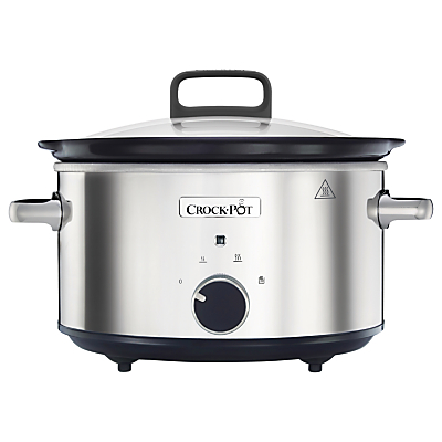 CrockPot CSC032 Manual 3.5 Litres Slow Cooker Stainless Steel