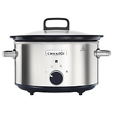 Buy Crock-Pot CSC032 Manual 3.5 Litres Slow Cooker, Stainless Steel Online at johnlewis.com