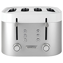 Buy Kenwood TFM400TT K-Sense 4-Slot Toaster, Silver Online at johnlewis.com