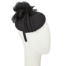 Buy John Lewis Kali Shantung Pillbox and Rose Fascinator, Black Online at johnlewis.com
