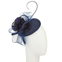 Buy John Lewis Thea Shantung Pillbox Crin Fascinator, Navy Online at johnlewis.com