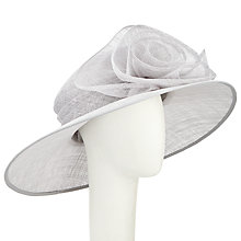 Buy John Lewis Dee Large Swirl Flower Occasion Hat, Silver Online at johnlewis.com