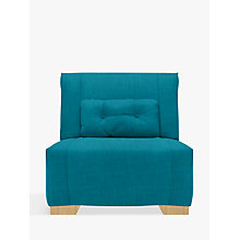 Buy John Lewis Strauss Chair Bed, Light Leg, Fraser Teal Online at johnlewis.com