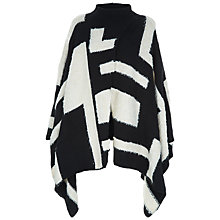 Buy Jaeger Laboratory Graphic Panel Cape, Black/Ivory Online at johnlewis.com