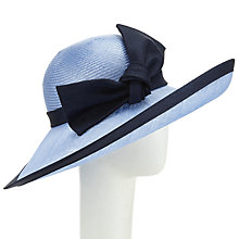 Buy Whiteley Naomi Upturn Bow Detail Occasion Hat, Bluebell/Navy Online at johnlewis.com