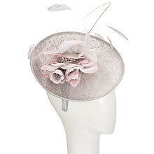 Buy John Lewis Lois Pearl Veil Flower Fascinator, Silver/Blush Online at johnlewis.com