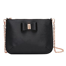 Buy Ted Baker Caisey Across Body Bag, Black Online at johnlewis.com