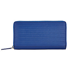 Buy Kin by John Lewis Liv Leather Medium Zip Around Purse, Cobalt Blue Online at johnlewis.com
