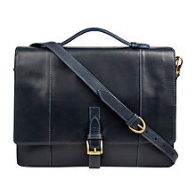 Buy Hidesign Maverick Briefcase, Navy Online at johnlewis.com
