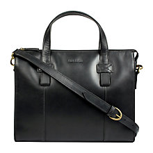 Buy Hidesign Brunel Zip Top Handle Briefcase, Black Online at johnlewis.com