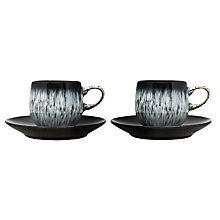Buy Denby Halo Espresso Cup and Saucer Set, Set of 2 Online at johnlewis.com