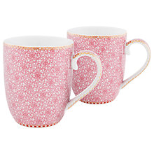 Buy PiP Studio Spring to Life Small Mug, Set of 2, Pink Online at johnlewis.com