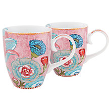 Buy PiP Studio Spring to Life Large Mug, Set of 2, Pink Online at johnlewis.com