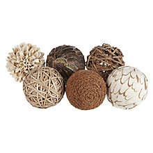 Buy John Lewis Botanical Dried Floral Ball, Set of 6 Online at johnlewis.com