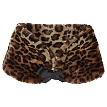Buy Miss Selfridge Leopard Print Faux Fur Neck Tie, Multi Online at johnlewis.com