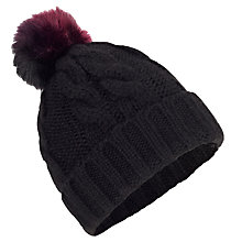 Buy Miss Selfridge Faux Fur Pom Beanie Hat Online at johnlewis.com