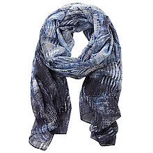 Buy Betty Barclay Long Printed Scarf, Blue/Grey Online at johnlewis.com