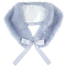 Buy Miss Selfridge Faux Fur Neck Tie, Ice Blue Online at johnlewis.com