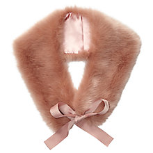 Buy Miss Selfridge Faux Fur Neck Tie, Powder Blush Online at johnlewis.com