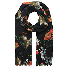 Buy Whistles Aiko Floral Print Scarf, Black/Multi Online at johnlewis.com