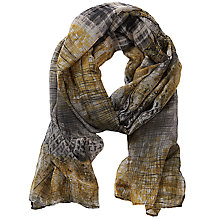 Buy Betty Barclay Long Printed Scarf, Grey/Yellow Online at johnlewis.com