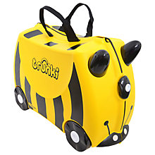 Buy Trunki Bernard Suitcase with Spike the Blowfish PaddlePak, Yellow Online at johnlewis.com