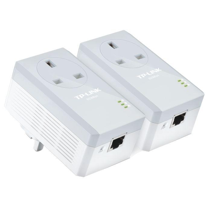 TP-Link TP-LINK AV600 Passthrough Powerline Starter Kit, TL-PA4010P KIT
