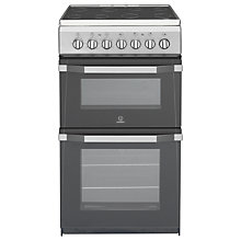 Buy Indesit IT50C1SUK Electric Cooker, Silver Online at johnlewis.com