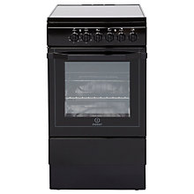 Buy Indesit I5VSHK Freestanding Electric Cooker, Black Online at johnlewis.com