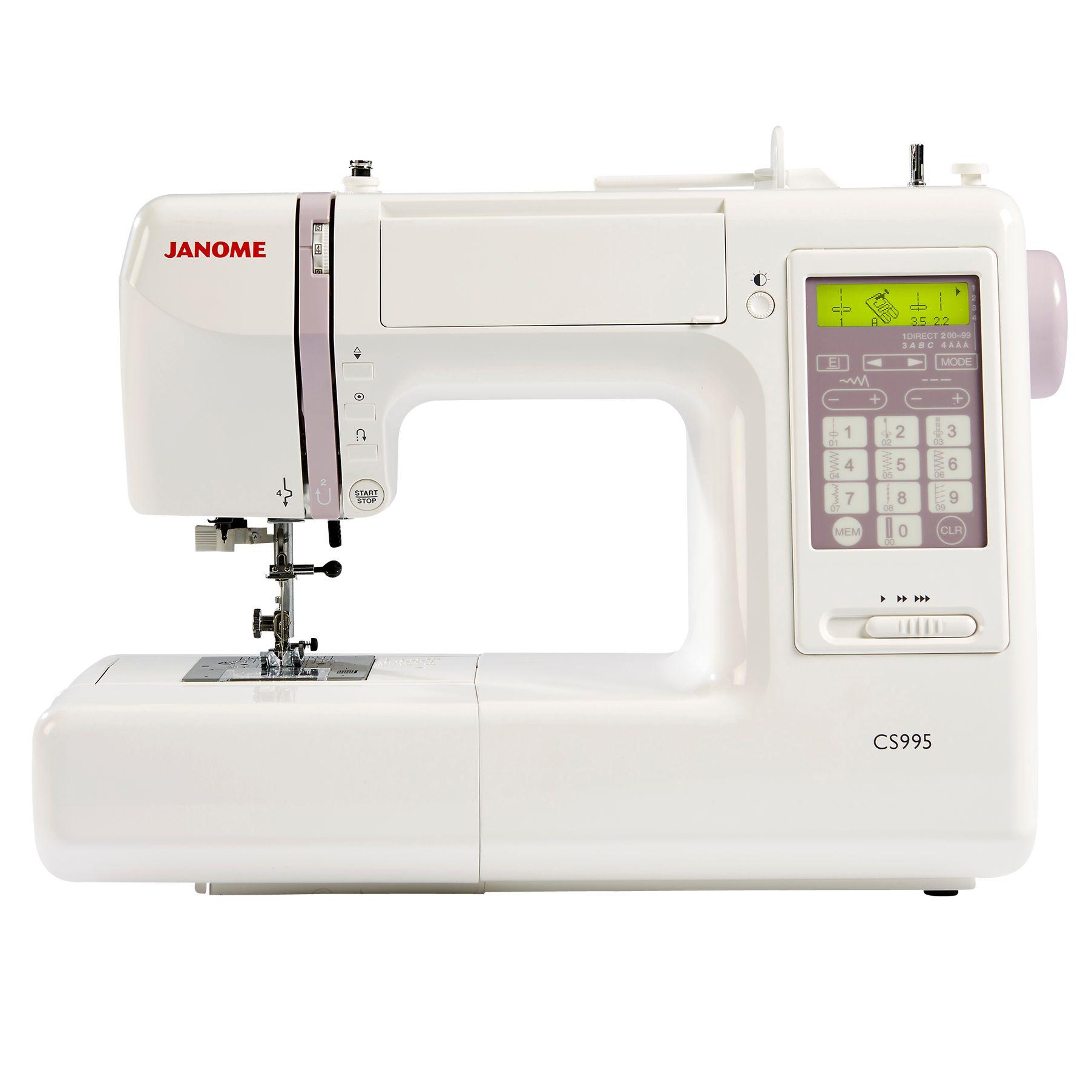 Janome Janome CS995 Computerised Sewing Machine, White